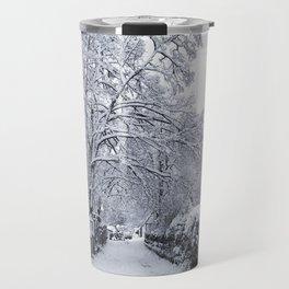 Winter Alleyway Travel Mug