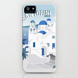 Vintage Santorini poster iPhone Case