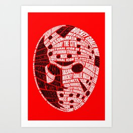 Jason Voorhees Calligram Art Print