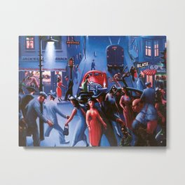 Bronzeville at Night by Archibald Motley Metal Print