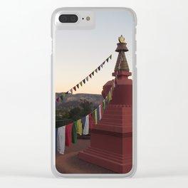 Amitabha Stupa Clear iPhone Case