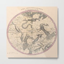 Constellation Chart 1856c Metal Print
