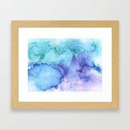 Northern Lights at Sea Framed Art Print