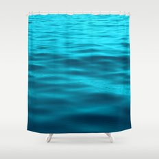Water : Teal Tranquility Shower Curtain