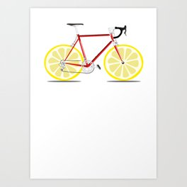 Single Lemon Speed Art Print