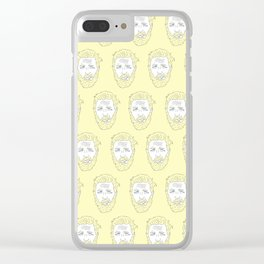 Yellow Hardy Clear iPhone Case