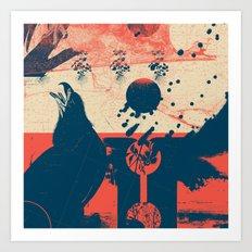 Exploration Fragments Tile 6/12 Art Print
