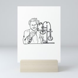 No Goats Science Funny Rancher Gift Humor Herder Farmer Mini Art Print