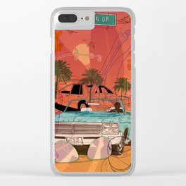 Miami Vibes Clear iPhone Case
