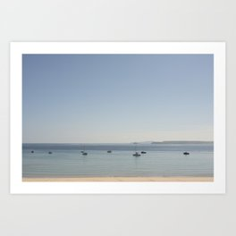 tranquil Morning over St. Ives bay, Cornwall Art Print