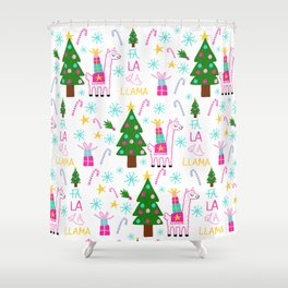 Fa La La Llama Shower Curtain
