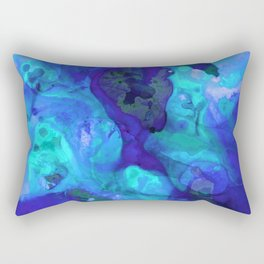 Violet Blue - Abstract Art By Sharon Cummings Rectangular Pillow