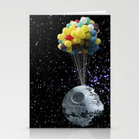 death star Stationery Cards featuring Death Star by J Styles Designs