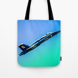 Blue Angles Rise Tote Bag