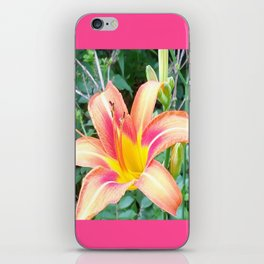 Colorful Lily in the Wild iPhone Skin