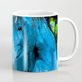 FANTASY HORSE BLUE I MET IN THE FOREST Coffee Mug