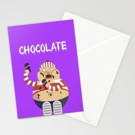 Chocolate boy Stationery Cards