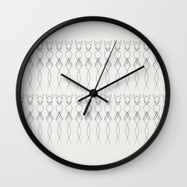 One line nude Wall Clock