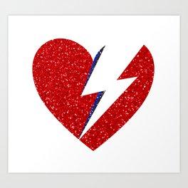 Bowie Heart Art Print
