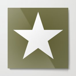 Army Star Metal Print