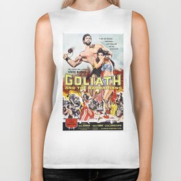 Vintage poster - Goliath and the Barbarians Biker Tank