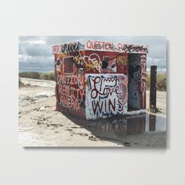 Welcome to Slab City Metal Print
