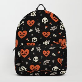 I Heart Halloween Pattern (Black) Backpack