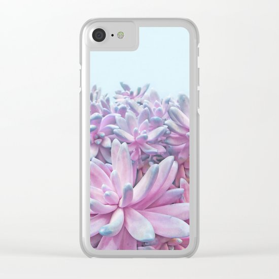 Sweet Succulents Clear iPhone Case