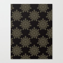 Boho Floral Arabesque Mandalas Canvas Print