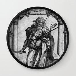 Saint Bartholomew Antique Engraving Wall Clock
