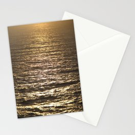 Sun ray on the sea Stationery Cards