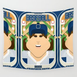 Baseball Blue Pinstripes - Deuce Crackerjack - June version Wall Tapestry