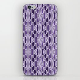 Fragmented Diamond Pattern in Violet iPhone Skin