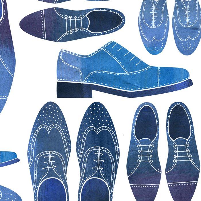 Blue Brogue Shoes Leggings