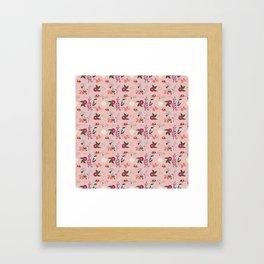 Eastern delight Japanese garden, pink. Framed Art Print