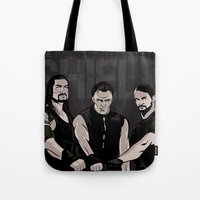wwe Tote Bags featuring WWE - The Shield by Chaotic Color