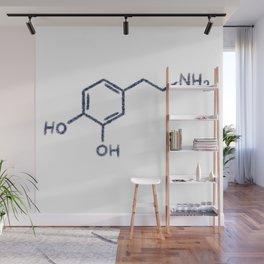 Dopamine black and blue glitter  Wall Mural