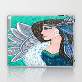 She Wore Feathers In Her Hair Laptop & iPad Skin