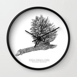 Pine cone graphite Wall Clock