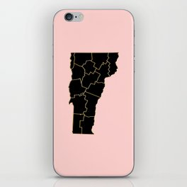 Vermont map iPhone Skin