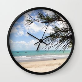 Tropical Beach Paradise Wall Clock