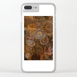 Changing Gear - Steampunk Gears & Cogs Clear iPhone Case