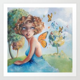 Amelia, Courage to Fly Art Print