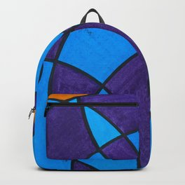 Blue and Purple Circles Backpack