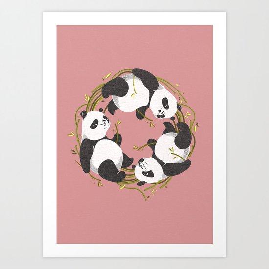 Panda dreams Art Print