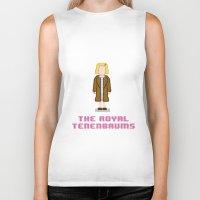 tenenbaum Biker Tanks featuring Margot Tenenbaum 8 bits by AlbaRicoque