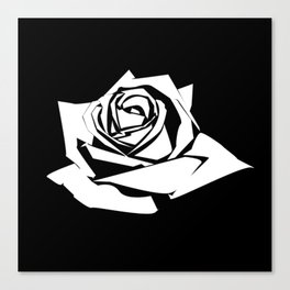 Rose Stencil Canvas Print