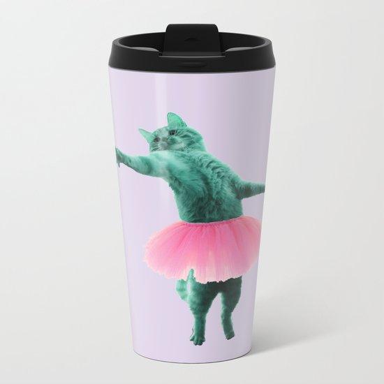 ballerina Cat Metal Travel Mug
