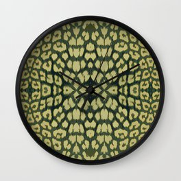 Leopard Print - Green Wall Clock