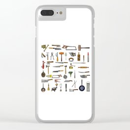 vintage utensils Clear iPhone Case